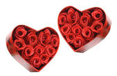 Red Roses in Gift Boxes — Stock Photo