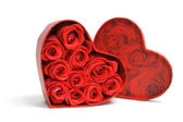 Red Roses in Gift Box — Stock Photo