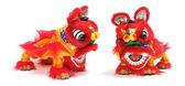 китайский лев танец — Стоковое фото