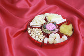 Box of Chinese New Year Delicacies — Stock Photo