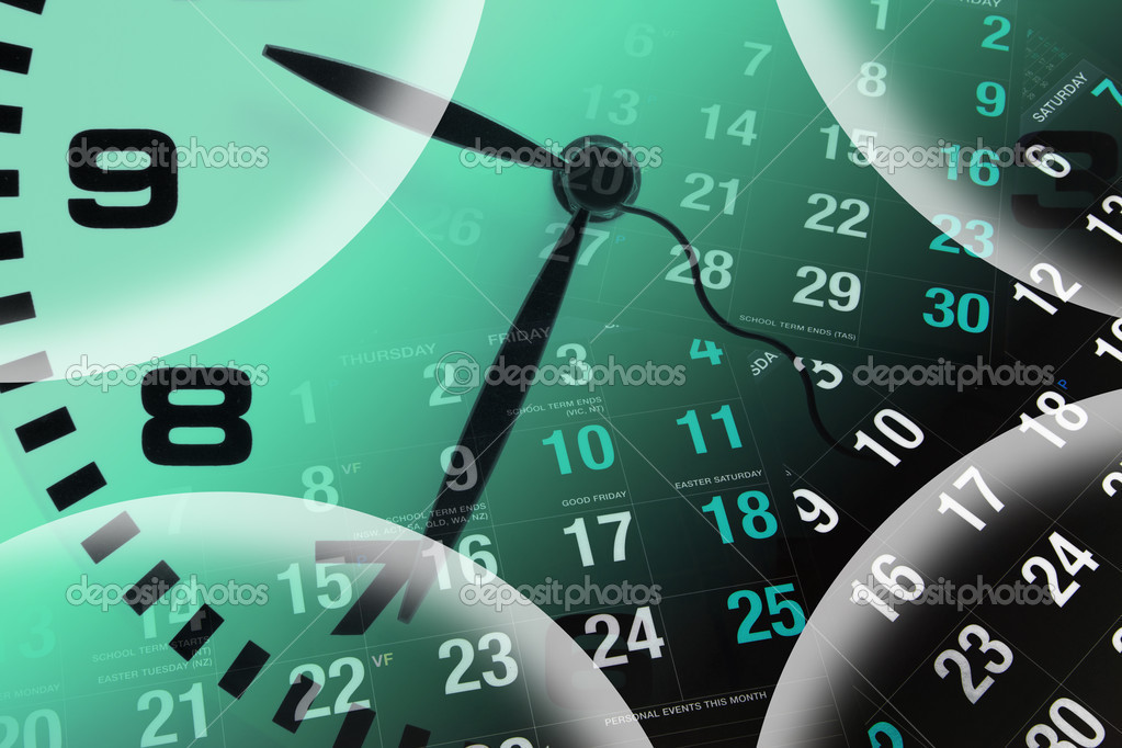 Clock and Calendar Pages — Stock Photo © newlight #2504759