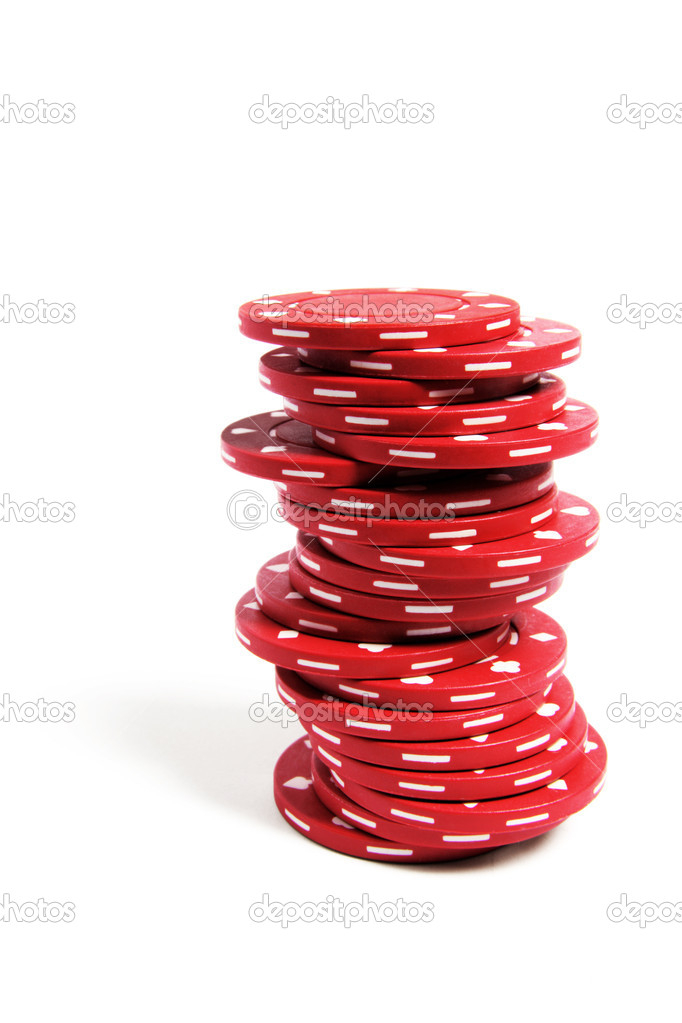 Stack of Poker Chips on White Background — Stock Photo #2507954