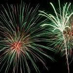 fuochi d'artificio multicolore — Foto Stock