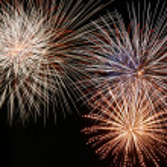 Multicolor Fireworks — Stock Photo