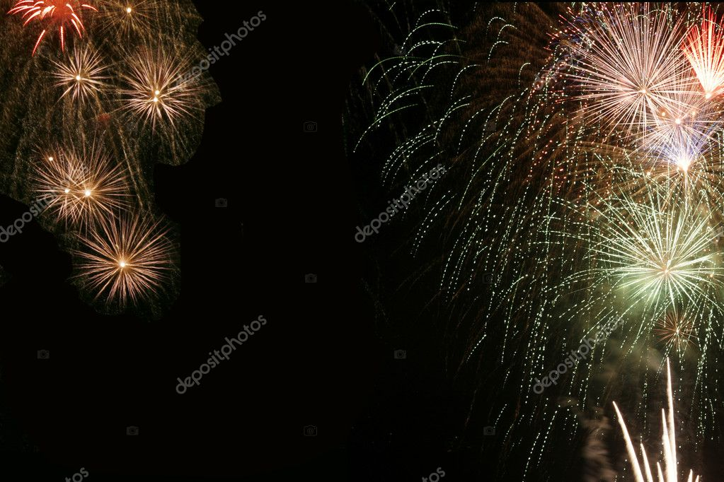 Multicolor Fireworks with Copy Space  Stock Photo #2510314