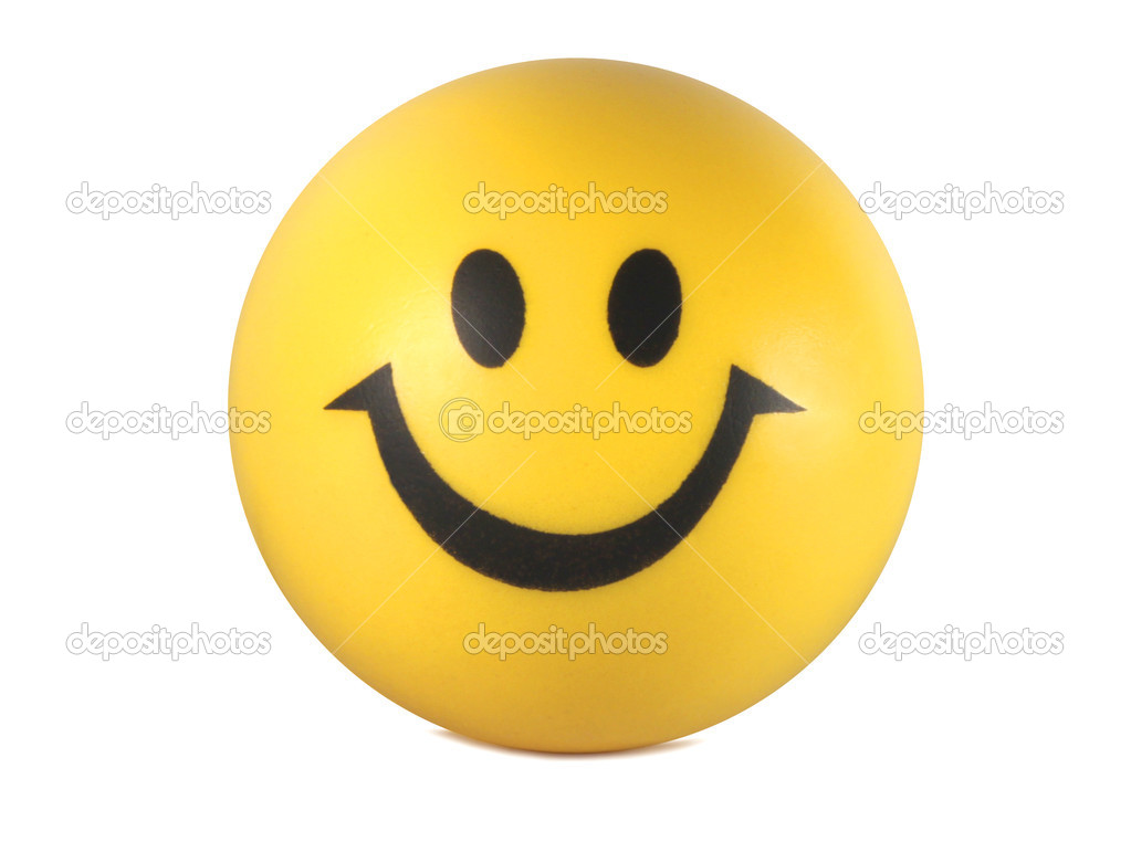 Yellow smiley face isolated on white background — Stock Photo #2466182