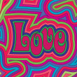 Groovy Love - Stockvectorbeeld