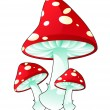 Poisonous mushrooms - Stock Vector