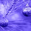 Blue Duotone Christmas Bulbs — Stockfoto