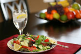 Healthy Salad on Table — Stock Photo