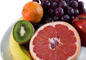 Fresh Fruit Plate — Stock Photo