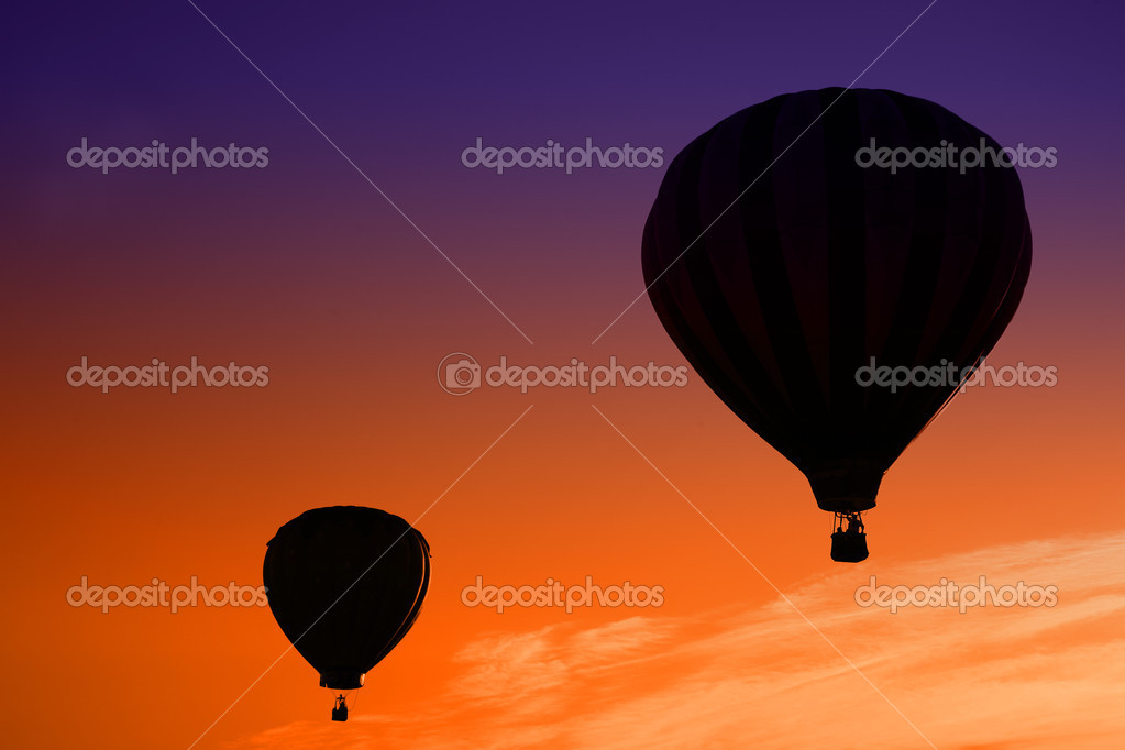 Sunrise Hot Air Balloon Ride — Stock Photo #2564039