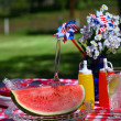 Old Fashioned Summer Picnic - Stock Photo