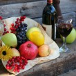 Harvest Basket filled with Fruit — Stock Photo
