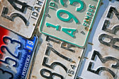 Idaho License Plates — Fotografia Stock