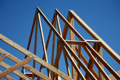 Trusses - New Home Construction — Stock Photo