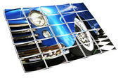 Vintage Sedan Headlight, Fender and Whitewalls — Stock Photo