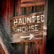 Haunted House Sign — Stock Photo