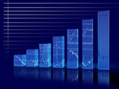 Graph dark — Stock Photo