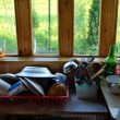 Rustic kitchen — Stockfoto