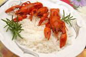 Crayfish meal — Stock Photo