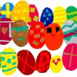 Stock Photo: multicolored easter eggs background