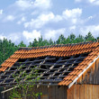 Old demolished tiled roof — Stock Photo #2600545