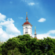 Church top over blue sky — Stock Photo