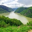 Danube canyon between Serbia and Romania — Stock Photo #2601487