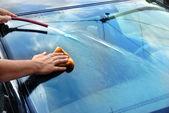 Car washing — Stock Photo