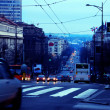 Evening Belgrade cityscape — Stock Photo