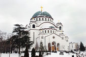 Orthodox church in Belgrade — Stock Photo