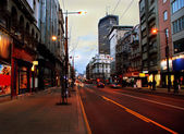Evening Belgrade cityscape — Stock Photo