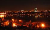 Belgrade night view — Foto Stock