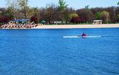 Kayak over blue water — Stock Photo