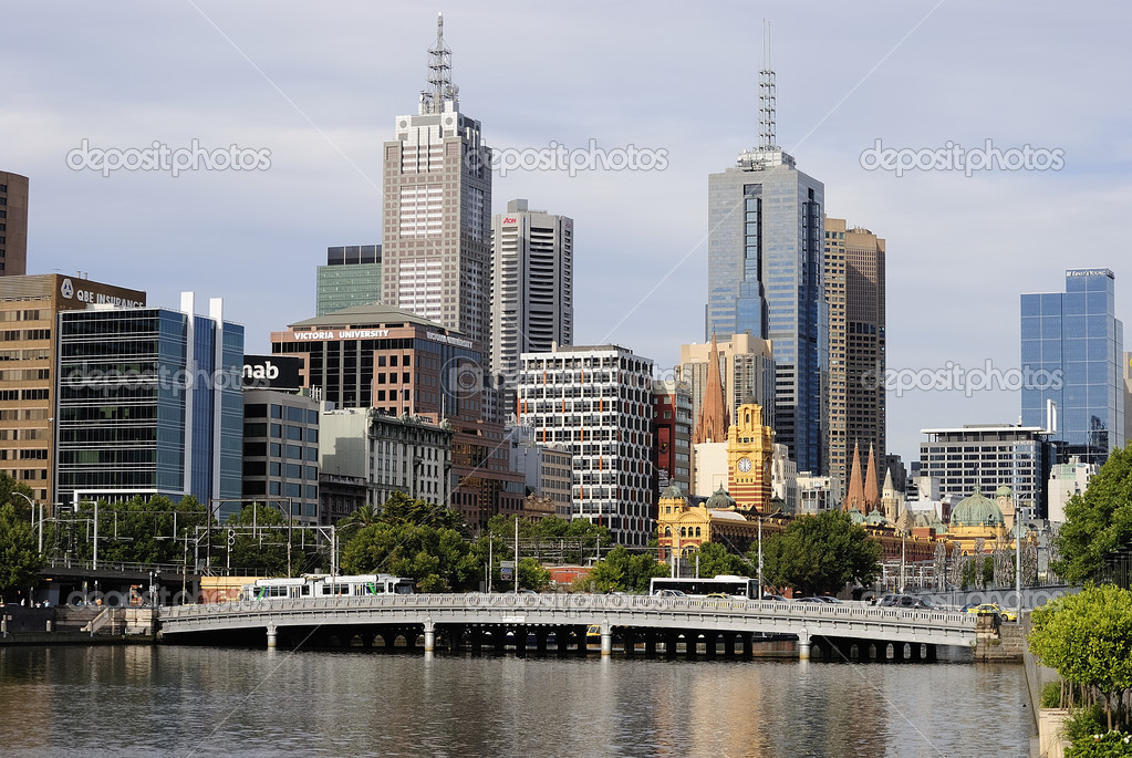 City buildings, Yarra River, Melbourne, Victoria, Australia  Stock Photo #2523053