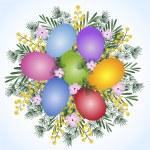 Ester eggs bouquet — Stock Vector #2558923