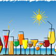 Beach bar - Stock Vector