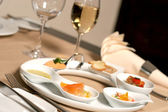 Starter or Entree of a french dish — Stock Photo