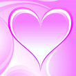 Romantic heart background - Stock Photo