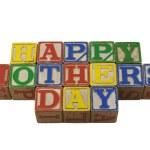 Happy Mothers day in vintage alpabet blocks — Stock Photo