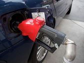 Filling up with gas — Stock Photo