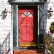 Stock Photo: Red front door
