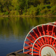 Riverboat paddles - Stock Photo