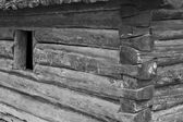 Log Cabin with Window — Stock Photo