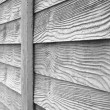Faux wood fence — Stock Photo