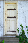 Old yellow door — Stock Photo