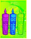 Aztek ve aşiret — Stok Vektör