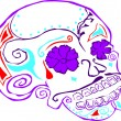 Stock Vector: Day of dead skull