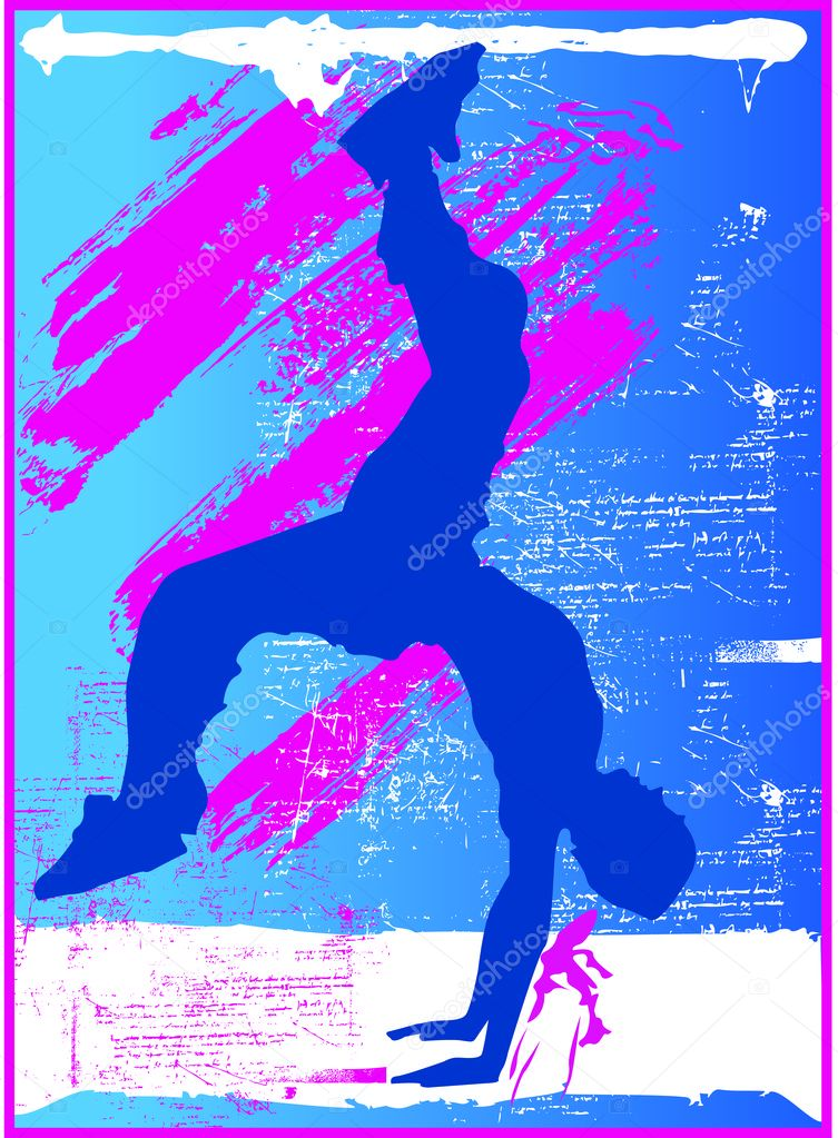 A concept of break dance — Stock Vector #2554101